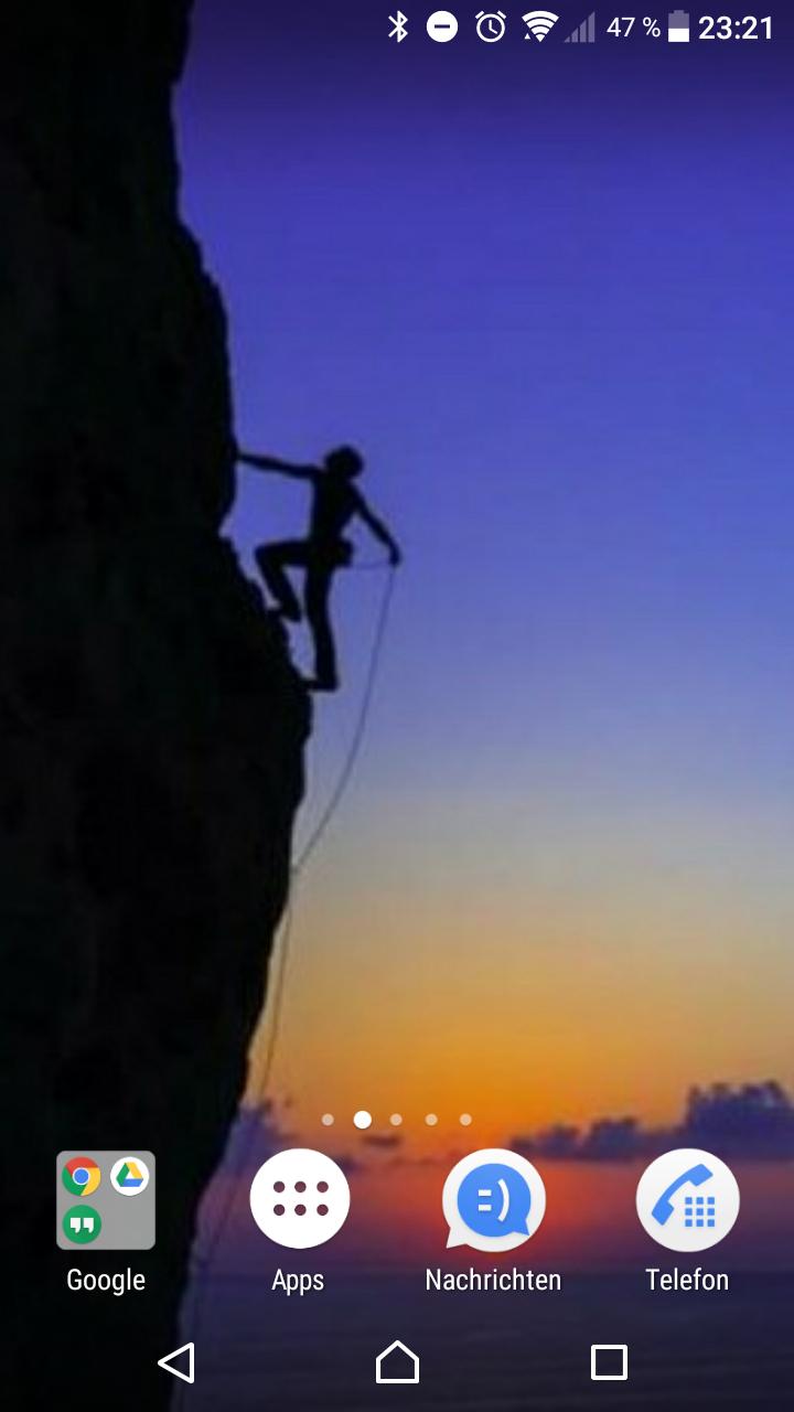 Des Kletterers Handy…